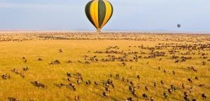 Luchtballon vlucht Serengeti Tanzania