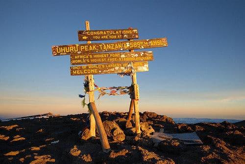 Der höchste Punkt in Afrika, Uhuru Peak, Kilimandscharo