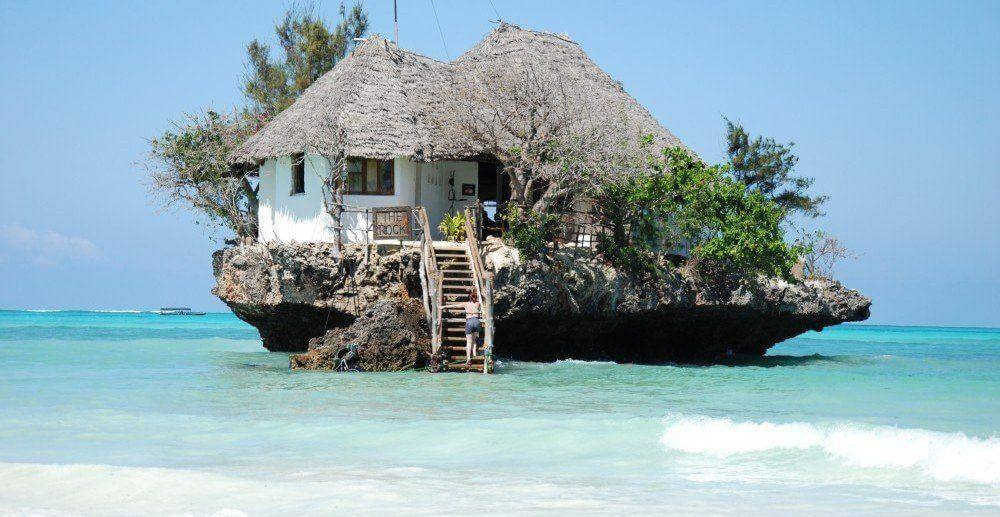Restaurant The Rock vakantie Zanzibar