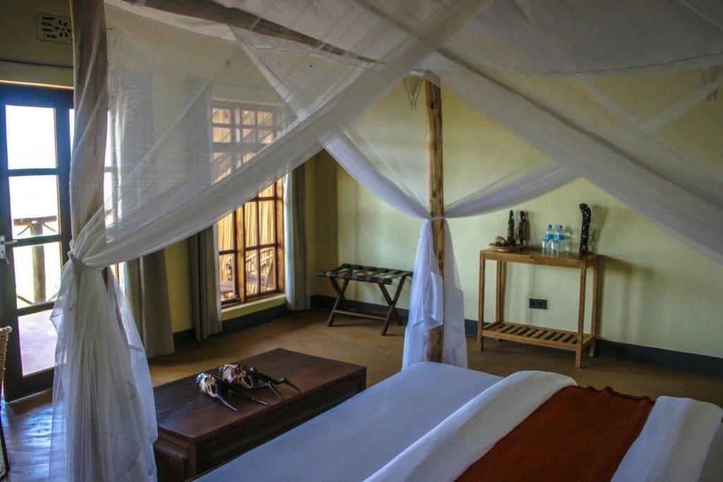 Slaapkamer met king size bed