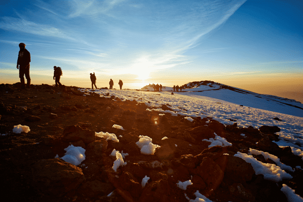 Sunrise near the summit of Mt. Kilimanjaro!