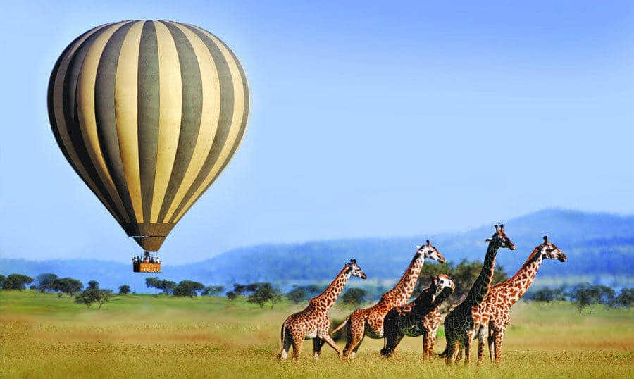 Ballonvlucht over de Serengeti